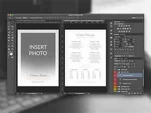 Adobe Photoshop Cv Template Wedding Photographer Pricing Guide Price Sheet List 5x7
