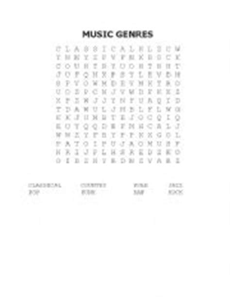 english worksheets  genres word search