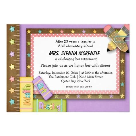 101 best images about School Invitations and Awards on