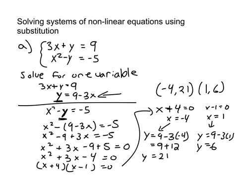How To Solve System Of Equations Using Substitution Tessshebaylo