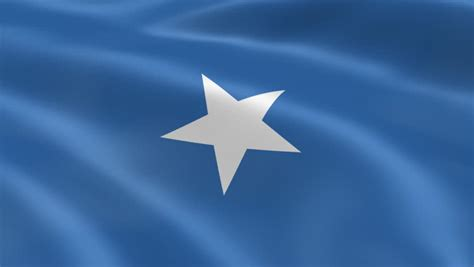 Flying Flag Of Somalia
