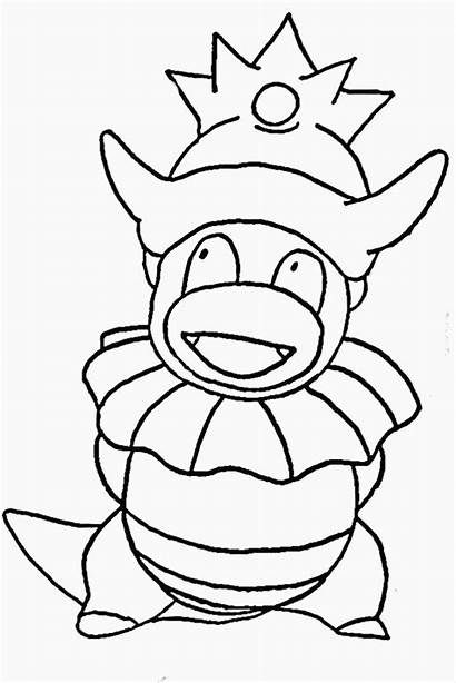 Pokemon Coloring Pages Water Totoro Slowking Colouring