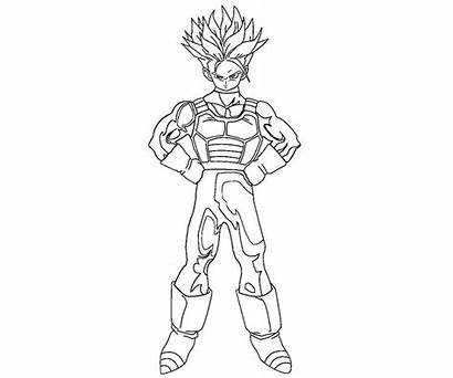 Trunks Coloring Future Pages Printable Random Getcolorings