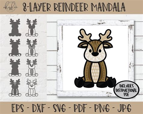 Learn to create gorgeous layered 3d mandala art these 3d layered mandalas are part of our make it easy craftalong challenge, filled with fun let me show you how easy it is make 3d layered mandalas! 3D Reindeer Mandala SVG 3D Mandala SVG Layered Mandala SVG ...
