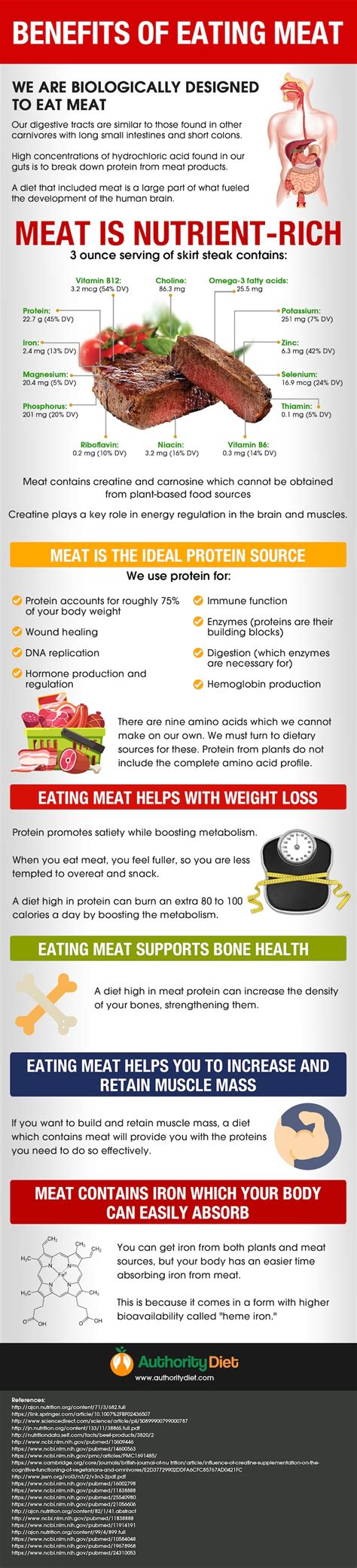 Health Benefits Of Eating Meat [infographic]