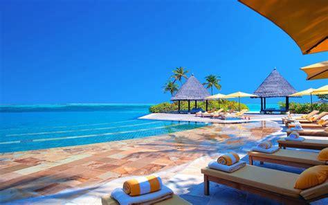 hotel terrace chairs ocean maldives hd wallpaper