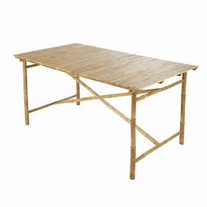 Maison Du Monde Table Jardin : table de jardin en bambou l 160 cm maisons du monde ~ Teatrodelosmanantiales.com Idées de Décoration
