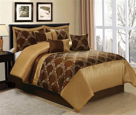 gold comforter set homechoice 7 claremont brown gold comforter sets