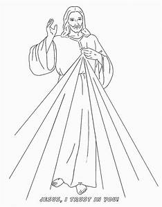 Divine Mercy Catholic Coloring Image. Feast day of Saint ...