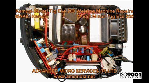 kemppi minarl tig evo 200 welding machine repairs advanced micro services pvt ltd bangalore