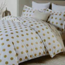 nicole miller large polka dot 3pc queen duvet set gold on white cotton dots charts polka dots