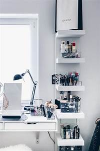 Ikea Weiße Regale : meine neue schminkecke inklusive praktischer kosmetikaufbewahrung ~ Markanthonyermac.com Haus und Dekorationen