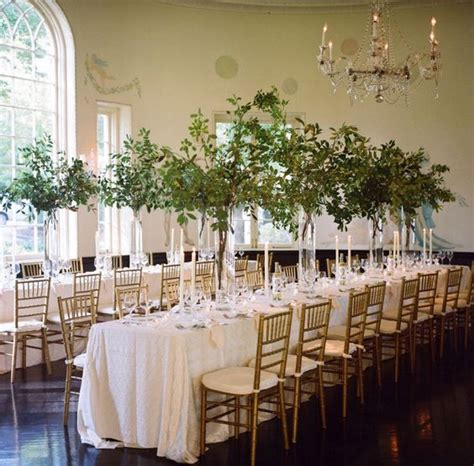 love the long rectangle tables at a wedding instead of