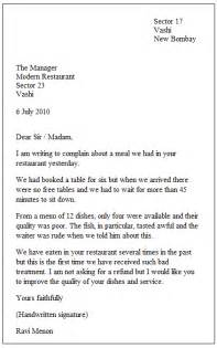 Writing Formal Letters Examples