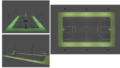 outdoor basketball court lighting techlight full court basketball court