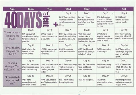 sample lenten calendar printable dbeautymijcom