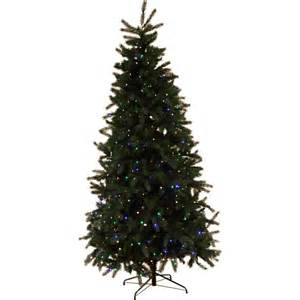 Tabletop Fibre Optic Christmas Trees by Fraser Fir 300cm 900 Multi Led Pre Lit Christmas Trees