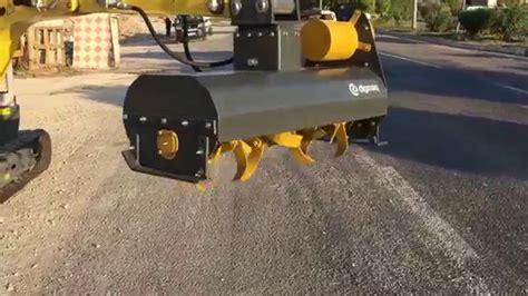 digmaq mini excavator rotovator mini capa atasmani wacker neuson mini ekskavatoer uygulamasi