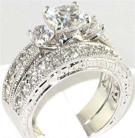 fancy 3 64 ct cz anniversary engagement wedding bridal ring size 8 ebay