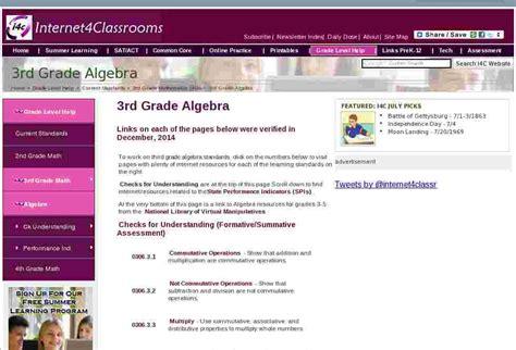 learn algebra   grade math standards internet
