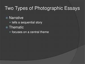 thematic essay examples the photographic essay
