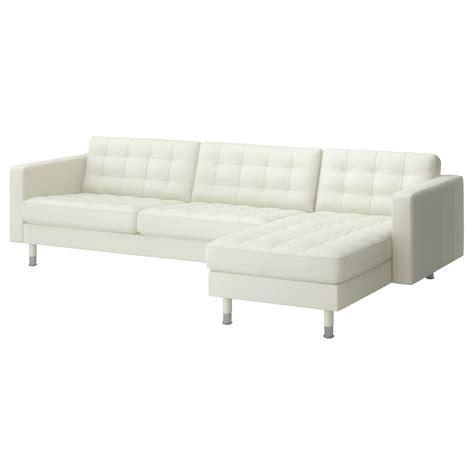 ikea sofa metal landskrona three seat sofa and chaise longue grann bomstad