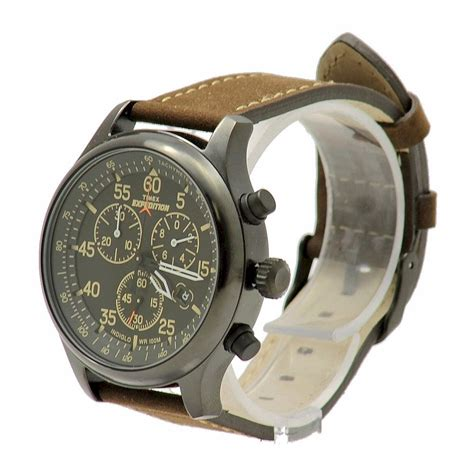 Expedition E6658m Brown timex expedition field t499059j brown analog chronograph
