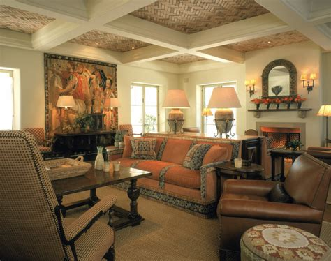 Spanish Style Great Room-mediterranean-living Room
