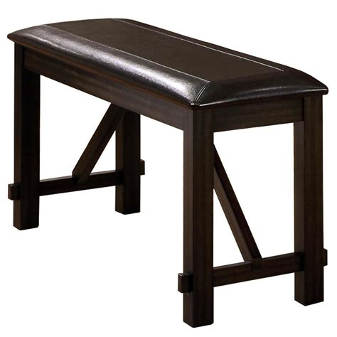 upholstered counter height bench winners only edgewater dext145524 counter height bench
