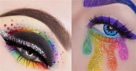 whoa  rainbow makeup tutorial    million views hellogiggles