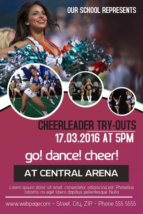 customize cheerleading poster templates postermywall
