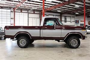 1979 Ford F150 81742 Miles Burgundy Pickup Truck V8 Manual