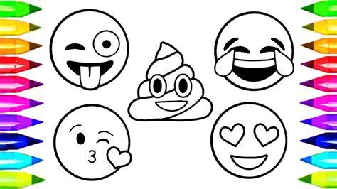 emoji coloring pages   draw  color emoji faces