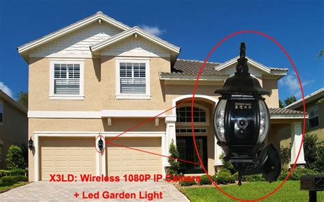 Wireless Hd P Hidden Ip Camera Led Garden Lights