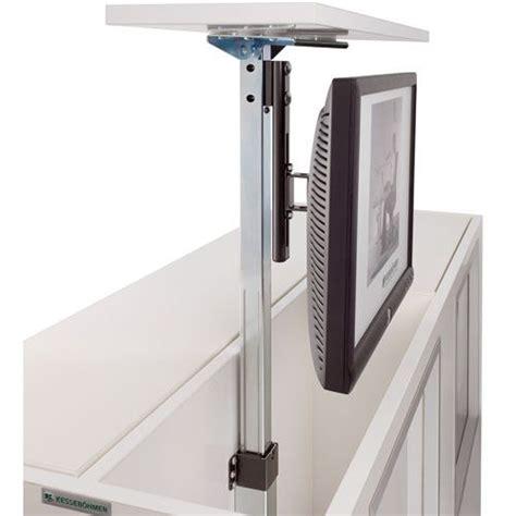 tele pour cuisine support tv écran plat téléscopique à encastrer dans meuble