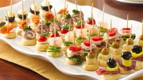 cheap easy canapes mini apps recipe from pillsbury com