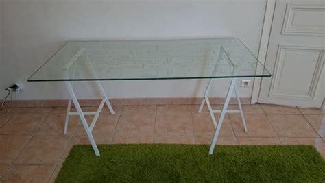 bureau table en verre bureau ikea occasion offres mai clasf