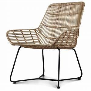 Fauteuil Pied Metal : fauteuil rotin naturel avec pied en m tal malaka demeure et jardin ~ Teatrodelosmanantiales.com Idées de Décoration