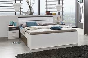 Schlafzimmer Weiß Grau : doppelbett mit nachtkommoden bett 180 x 200 cm ehebett wei grau nachtkommoden 5901738007239 ebay ~ Frokenaadalensverden.com Haus und Dekorationen