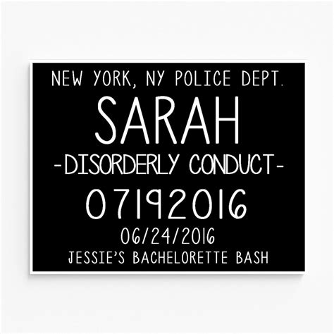 mugshot sign template printable bachelorette mugshot signs customized with