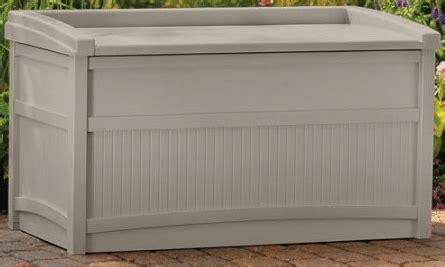 suncast patio storage bench suncast 50 gallon outdoor deck storage with bench