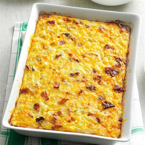 egg bake casserole recipe hash brown egg bake recipe taste of home