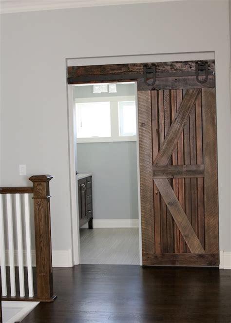 barn door for bathroom farmhouse chic sliding barn doors so chic
