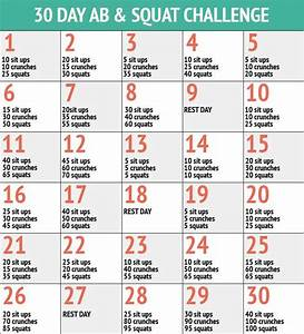 30 Tage Fitness : 30 day ab squat challenge a collection of fitness quotes workout ~ Frokenaadalensverden.com Haus und Dekorationen
