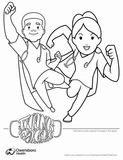 Coloring Sheets Pages Health Heroes Healthcare Coronavirus