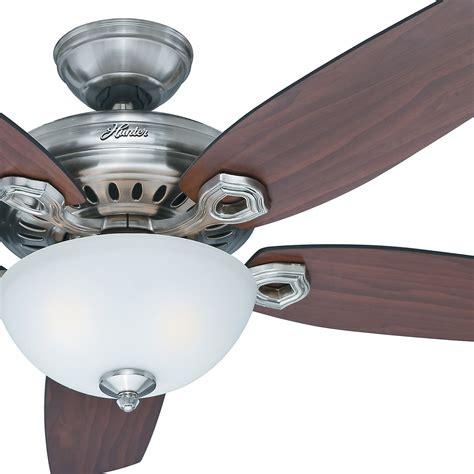 hunter fan ceiling fan light kit 54 quot hunter fan brushed nickel ceiling fan with light kit