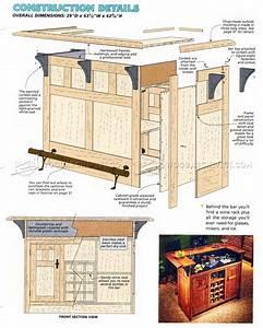 Home Bar Plans • WoodArchivist