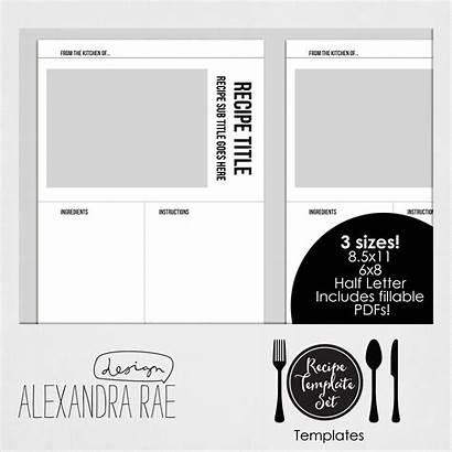 Template Templates Recipe Own Cookbook Create Alliescraps