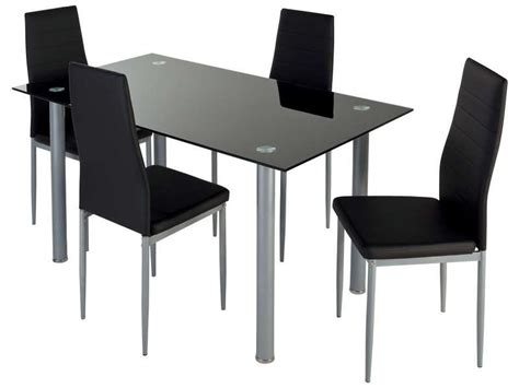 table cuisine 4 chaises ensemble table 4 chaises featuring coloris noir vente de ensemble table et chaise conforama