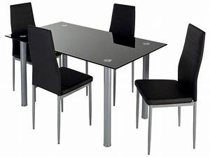 Ensemble Table 4 Chaises FEATURING Coloris Noir Vente